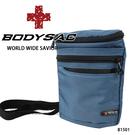 灰藍防水機能小側背包/腰包  AMINAH~【BODYSAC B1501】