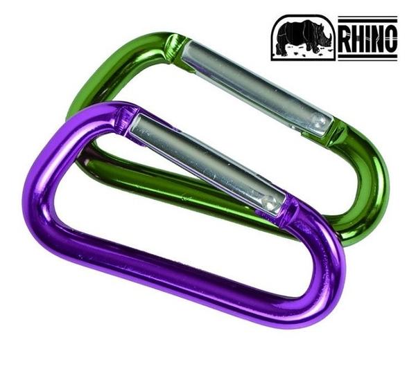 丹大戶外【RHINO】犀牛 D型環扣8CM 1628 顏色隨機 登山扣環│運動扣環