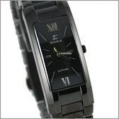 【萬年鐘錶】SIGMA 全黑時尚腕錶 5812L-LB