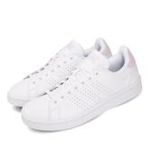 adidas 休閒鞋 Advantage 白 粉紅 女鞋 小白鞋 基本款 運動鞋【PUMP306】 F36481
