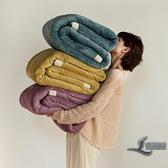 冬季加厚牛奶絨毛毯辦公室沙發蓋毯吸濕復合休閒毯子【邻家小鎮】