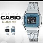CASIO LA680WA-2B 耀眼風格數字腕錶 LA-680WA-2BDF 熱賣中!