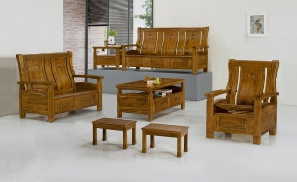 【新北大】H13-1 500型半樟木組椅(全組)(1+2+3+大小茶几.附椅墊x6)-2019購