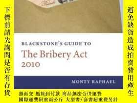 二手書博民逛書店Blackstone s罕見Guide To The Bribe