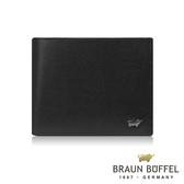 【BRAUN BUFFEL德國小金牛】阿梅爾系列6卡短夾(黑色) BF333-312-BK