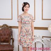 【RED HOUSE 蕾赫斯】滿版花朵厚棉洋裝(共二色)