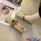 懶人鞋 仙女風單鞋女2021年春季新款懶人奶奶鞋中粗跟豆豆鞋淺口晚晚鞋女寶貝計畫 上新