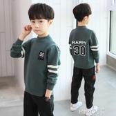 童裝男童毛衣套頭加絨加厚春秋冬裝2020新款韓版洋氣兒童中大童潮  (pink Q時尚女裝)