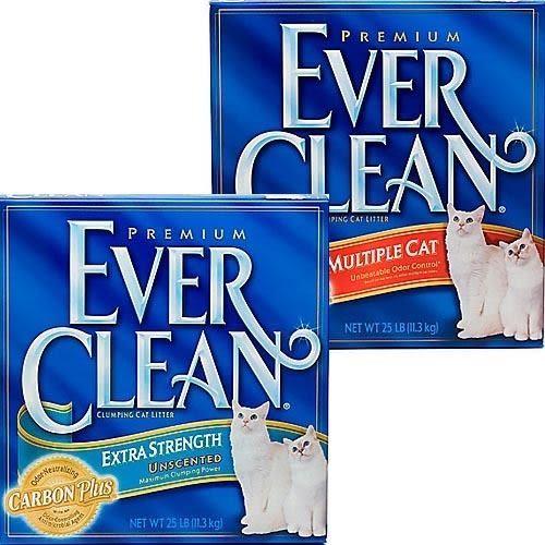 【培菓平價寵物網】美國【EverClean】EVER 超強除臭結塊貓砂1盒- 25LB