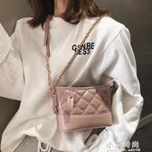 高級感包包洋氣女包2019新款潮韓版百搭斜背包菱格質感單肩流浪包 小艾時尚