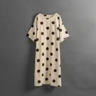 Queen Shop【01085475】女裝 親子系列 日系點點棉麻洋裝*現+預*