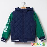 連帽舖棉外套01海軍藍-bossini男童