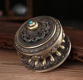 家用精美鏤空蓋合金銅盤香爐擺件EY1595『東京衣社』