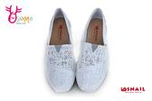 SNAIL蝸牛休閒鞋 真皮 厚底休閒鞋 懶人鞋C4808#純白◆OSOME奧森鞋業