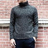 男毛衣 秋冬毛衣保暖加厚套頭高領時尚大碼純色男針織衫套頭衫【五巷六號】ns5754