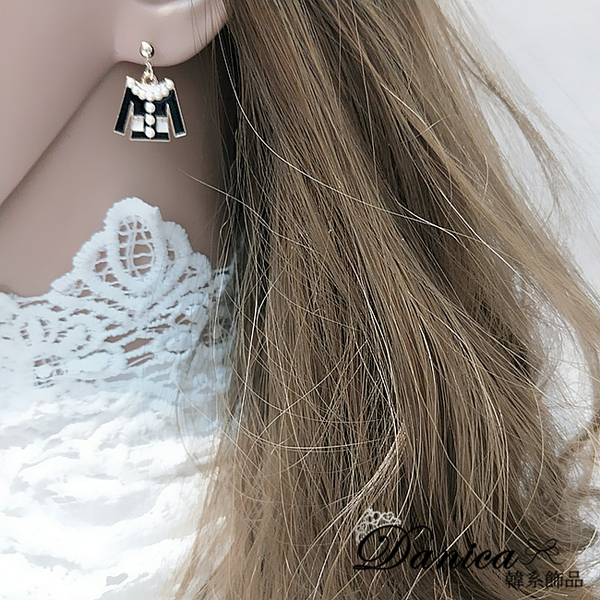 現貨 韓國氣質小香風衣服包包不對稱925銀針耳環 夾式耳環 S93415 批發價 Danica 韓系飾品