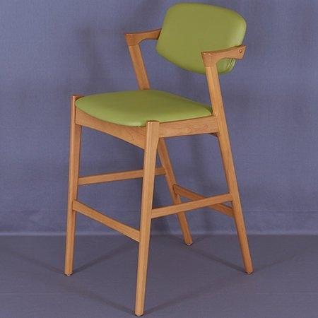 【這家子家居】北歐 宮崎 皮墊扶手 餐椅 書椅 餐椅 flap-back chair 咖啡椅 餐廳 桌椅【B0120】