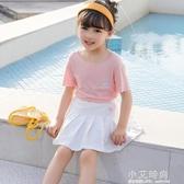 夏裝女童半身裙夏天洋氣兒童百褶裙防走光裙褲夏季大童寶寶短裙子【小艾新品】