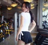 網眼系帶速干衣女運動T恤健身半袖跑步短袖