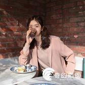 西裝外套-鬼馬系少女早秋新款韓國chic復古顯白溫柔氣質簡約百搭西裝外套女-奇幻樂園