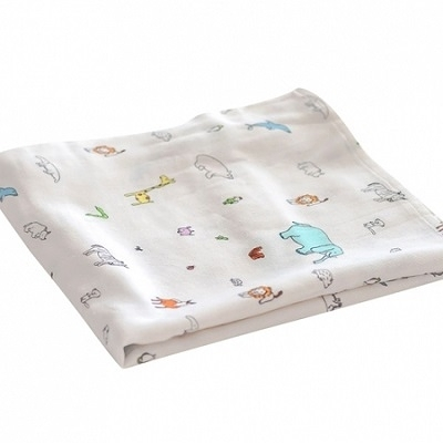 美國tiny twinkle Swaddle Blanket Single 紗布巾單入-動物