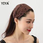 超寬蕾絲發箍發帽頭巾原創韓國簡約氣質遮白發寬邊頭箍飾品成人