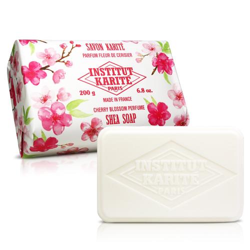 Institut Karite Paris 巴黎乳油木 櫻花花園香氛手工皂(200g)【ZZshopping購物網】