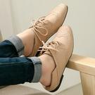 兩穿可後踩包鞋.MIT韓系百搭繫帶雕花小皮鞋.白鳥麗子