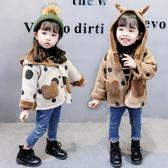 女童外套秋冬裝1-2-3-5-6歲加絨加厚秋冬季女寶寶兒童短款上衣