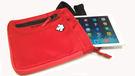 外貿日本品牌Descente戶外休閒ipad手機斜跨包肩包 紅色