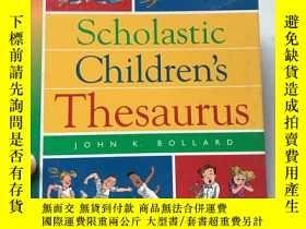 二手書博民逛書店Scholastic罕見Children s Thesaurus