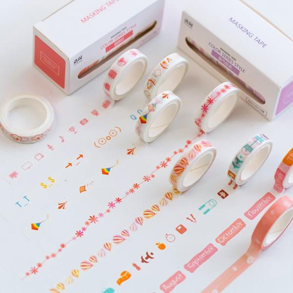 【BlueCat】Yuxian大容量可撕盒裝紙膠帶(10卷裝) 手帳裝飾貼