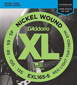 【敦煌樂器】DAddario EXL165-5 貝斯五弦套弦