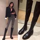 過膝靴女秋冬2020新款長筒皮靴平底彈力靴長靴瘦瘦靴高筒靴女靴子 小山好物