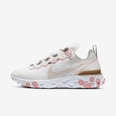 Nike W React Element 55 [BQ2728-007] 女鞋 慢跑 運動 輕量 透氣 舒適 避震 米棕