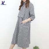 【秋冬新品】American Bluedeer - 棉麻格子洋裝