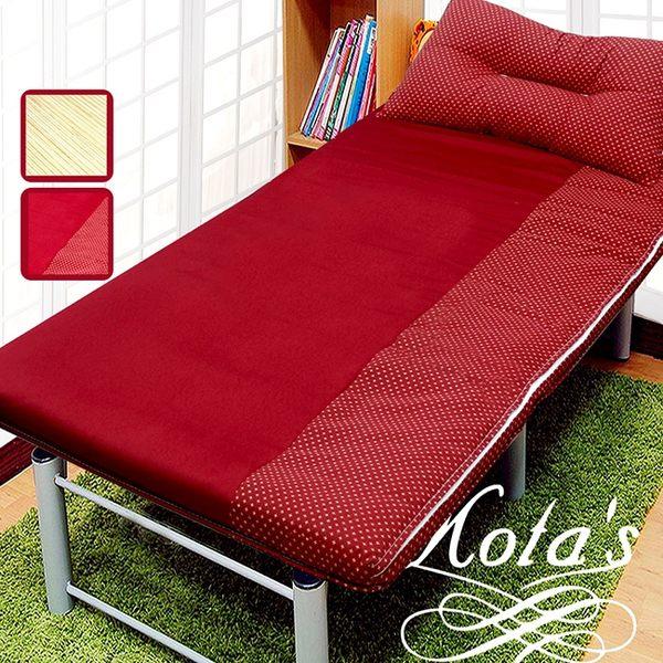 學生床墊/冬夏床墊/冬夏透氣床墊 單人 3尺 送記憶枕1顆 -紅 / Gloria