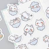 【BlueCat】糖詩一碗貓盒裝貼紙