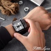 歐鐳手錶潮流大盤手錶歐美嘻哈風格創意概念手錶哈倫復古男錶 聖誕節全館免運