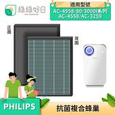 綠綠好日 抗菌 複合型 蜂巢顆粒 濾芯 濾網 適 Philips 飛利浦 AC4558 AC3259 3000i 空氣清淨機