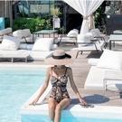 韓版泳衣 女游泳衣韓國版小胸 蕾絲性感三角連體 泳衣女鋼托聚攏