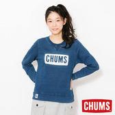 CHUMS 日本 女 LOGO 圓領套頭衫 Indigo丹寧藍 CH101096N030