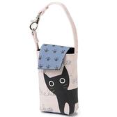【Noafamily日本諾亞家族】Neko貓咪手機包/相機袋/鑰匙袋(粉紅底色)