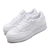 Reebok 休閒鞋 Club C Double 白 全白 女鞋 厚底 增高 小白鞋 經典款 運動鞋【ACS】 FW8015