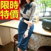 OL套裝(長袖裙裝)-辦公面試百搭韓版職業制服2色59q11【巴黎精品】