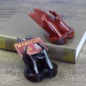 紅木工藝品 草花梨創意雙手名片架名片座 越南裝名片盒子商務送禮