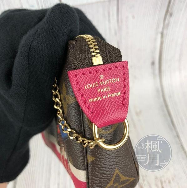 BRAND楓月 LOUIS VUITTON LV M62087 經典 塗鴉 原花 小POUCH 小包 拉鍊 手提包