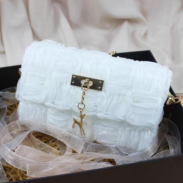 草編包 世紀美織手工編織包包diy材料包絲帶毛線網格自制單肩斜背包女包 瑪麗蘇