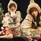 聖誕節服裝 影樓冬季寫真主題服裝 圣誕節針織衫雪景拍照花毛衣青春混搭服飾耶誕節