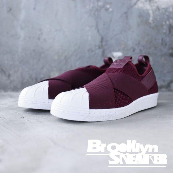 ADIDAS ORIGINALS SUPERSTAR SLIP ON 酒紅 繃帶鞋 休閒鞋 女(布魯克林)  B37371